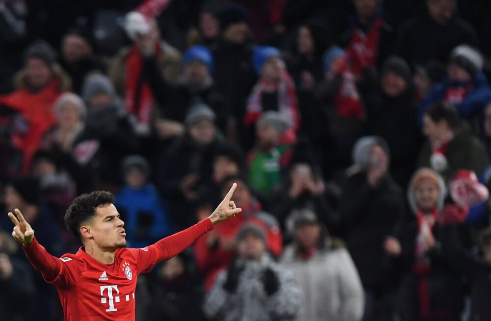 Philippe Coutinho supermäng aitas Bayernil võidureele naasta, Dortmundi imelaps säras taas