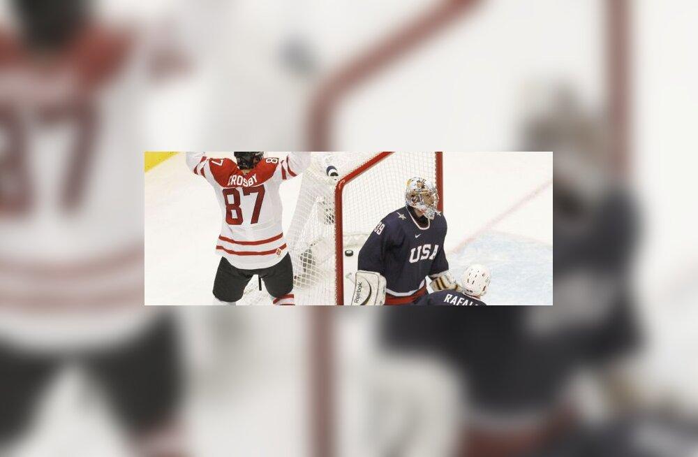 Sidney Crosby (Kanada) on visanud võiduvärava
