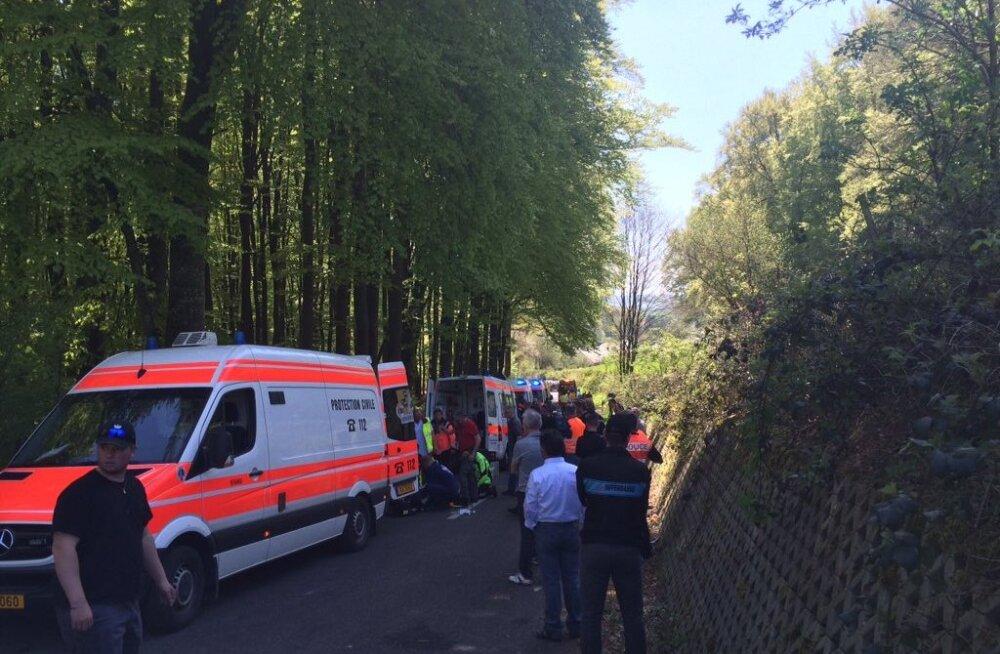Õnnetuspaik Fleche du Sud mitmepäevasõidul