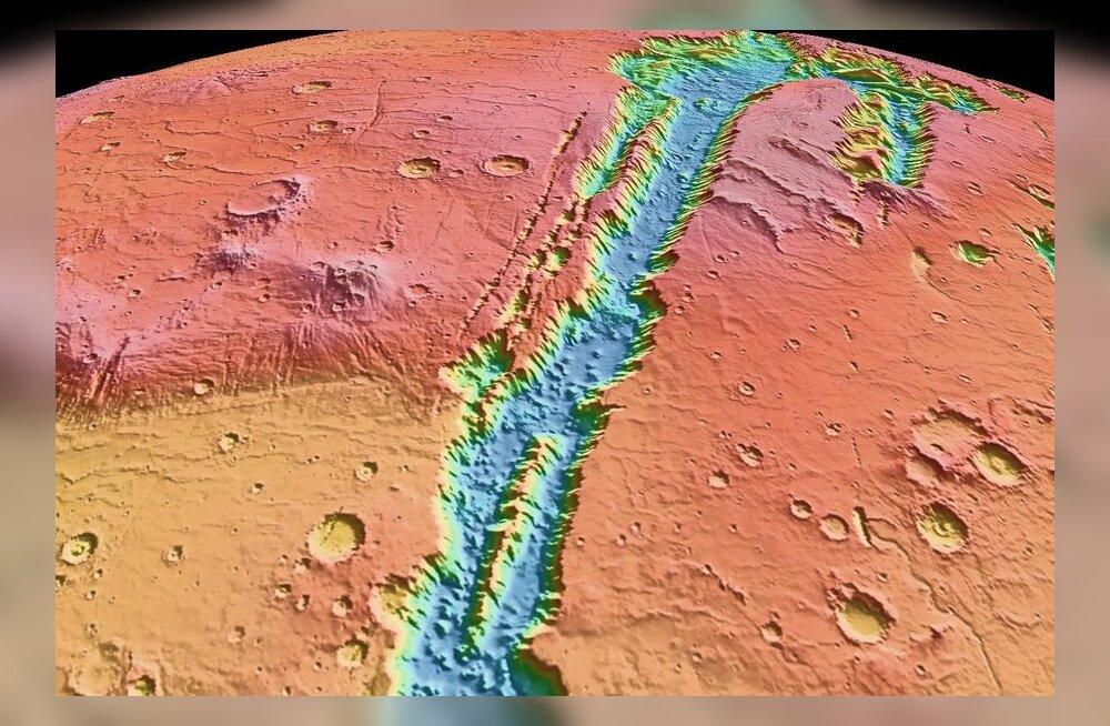 Ei tea, kes Marsil kündmas käis? Valles Marineris - Päikesesüsteemi suurim kanjon