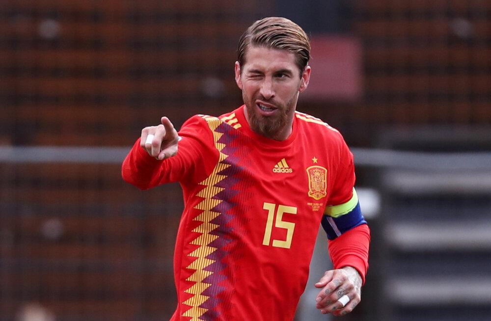 Sergio Ramos jõudis Hispaania võidumängus rekordtähiseni