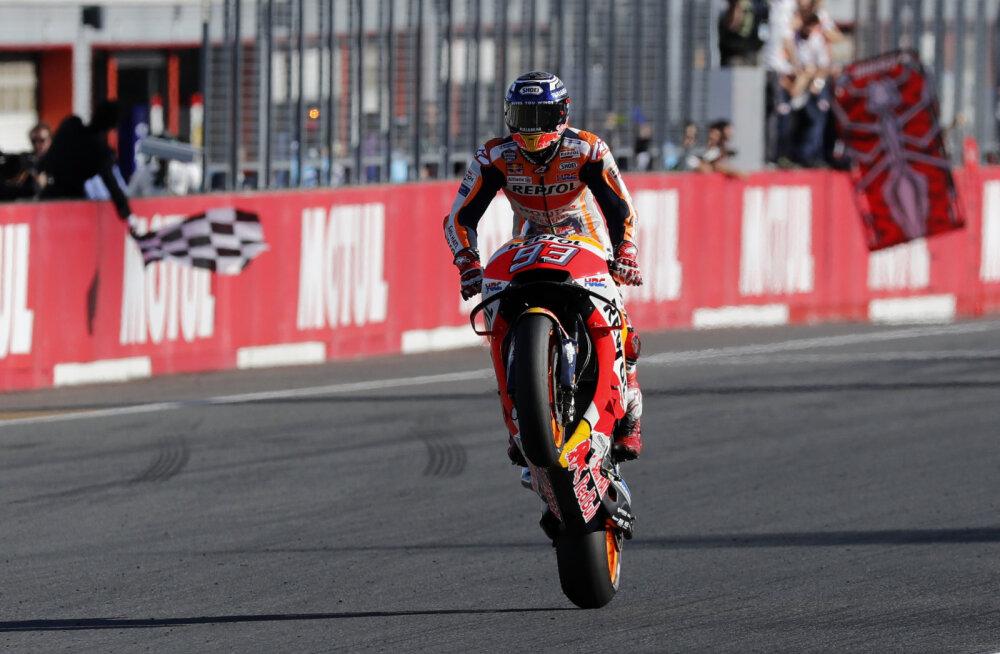 VIDEO | Marc Marquez võitis Jaapani GP ning tõusis viiekordseks MotoGP maailmameistriks - vaid 25-aastaselt!