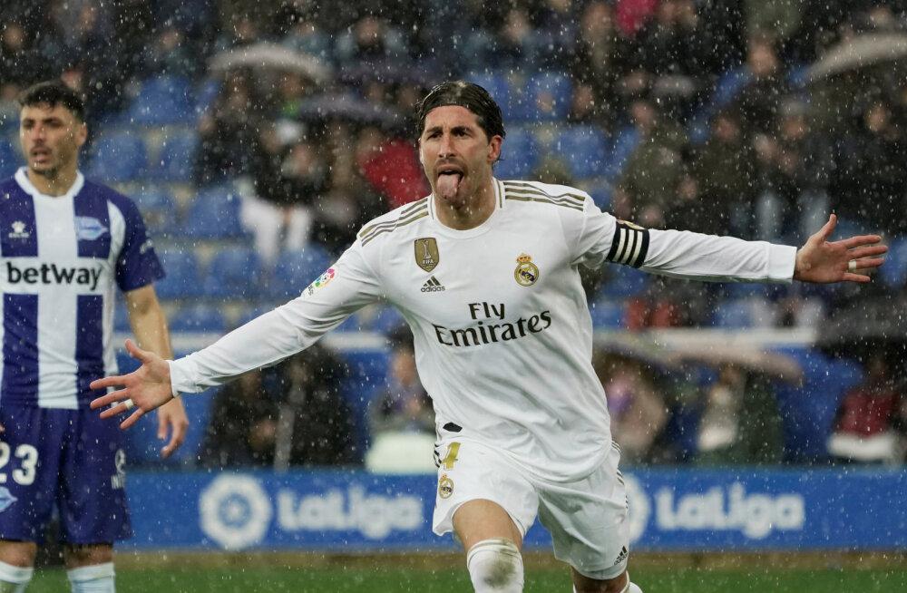 Raske võidu saanud Madridi Real kerkis liidrikohale