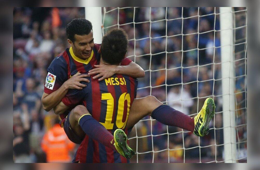 VIDEO: Barcelona korraldas väravatesaju, Messilt kübaratrikk