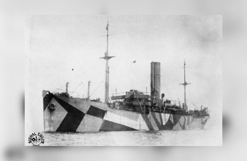 I maailmasõja aegne laevakamuflaaž nägi küll esmapilgul rumal välja, kuid toimis edukalt