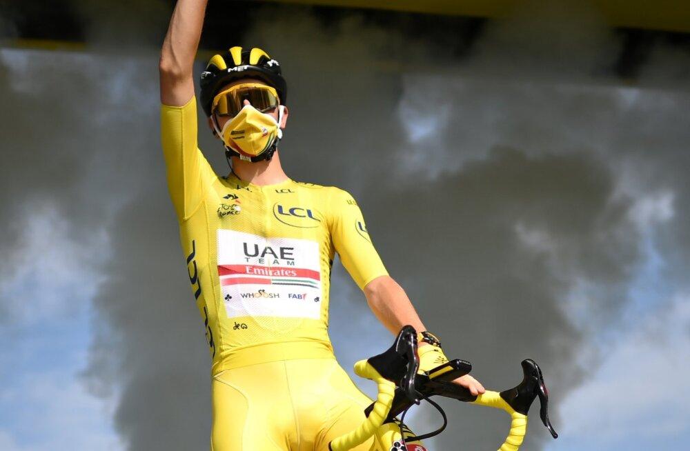 Tadej Pogačar tõi Sloveeniale esimese Tour de France'i võidu.
