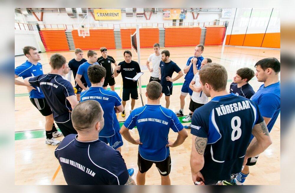 Eesti võrkpallikoondise treening Pärnus