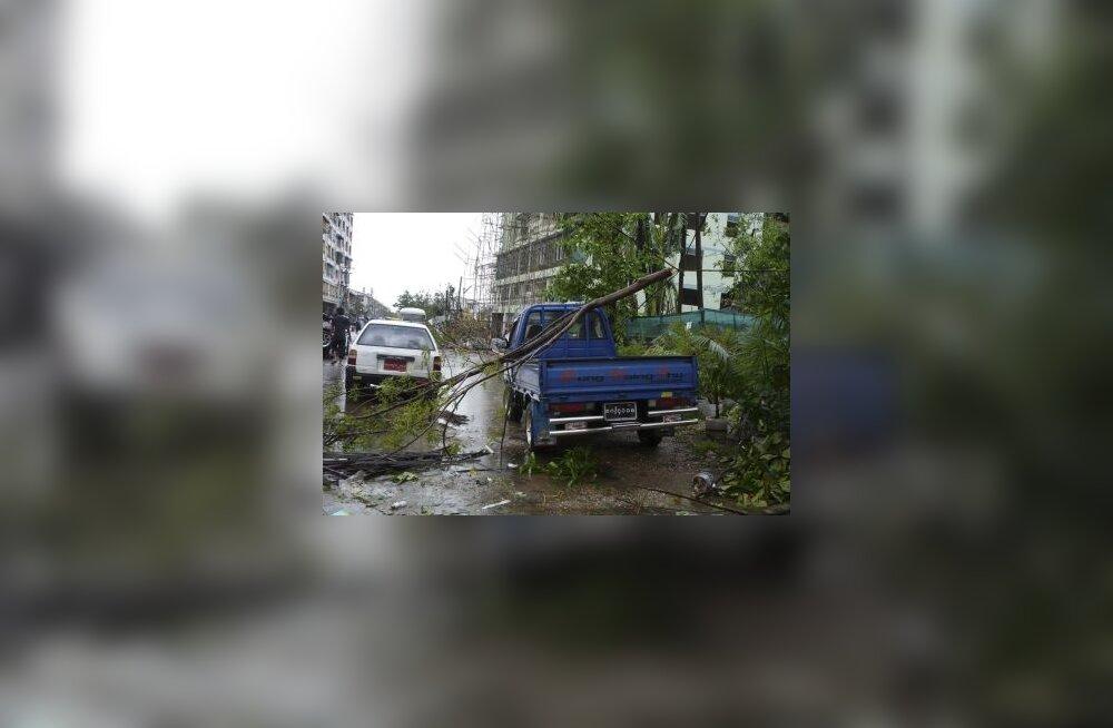 Birma, Myanmar, torm, troopiline tsüklon