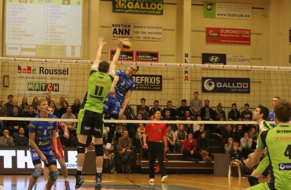Pärnu võrkpalliklubi kaotas Belgias 0:4 ja langes eurosarjas konkurentsist!
