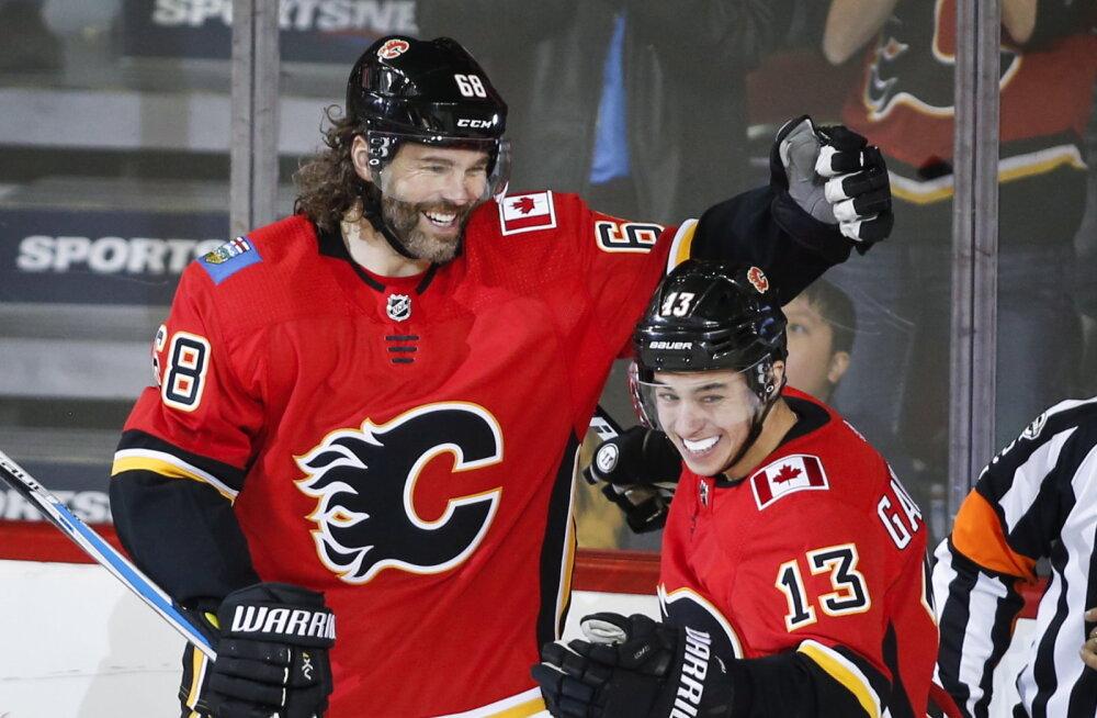 VIDEO | 45-aastane Jaromir Jagr avas NHL-is hooaja väravaarve