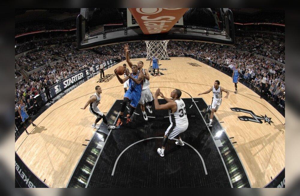 San Antonio Spurs lõpetas Oklahoma City võitudeseeria