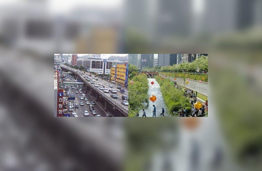 Souli liikluskaos enne ja pärast otsuse langetamist