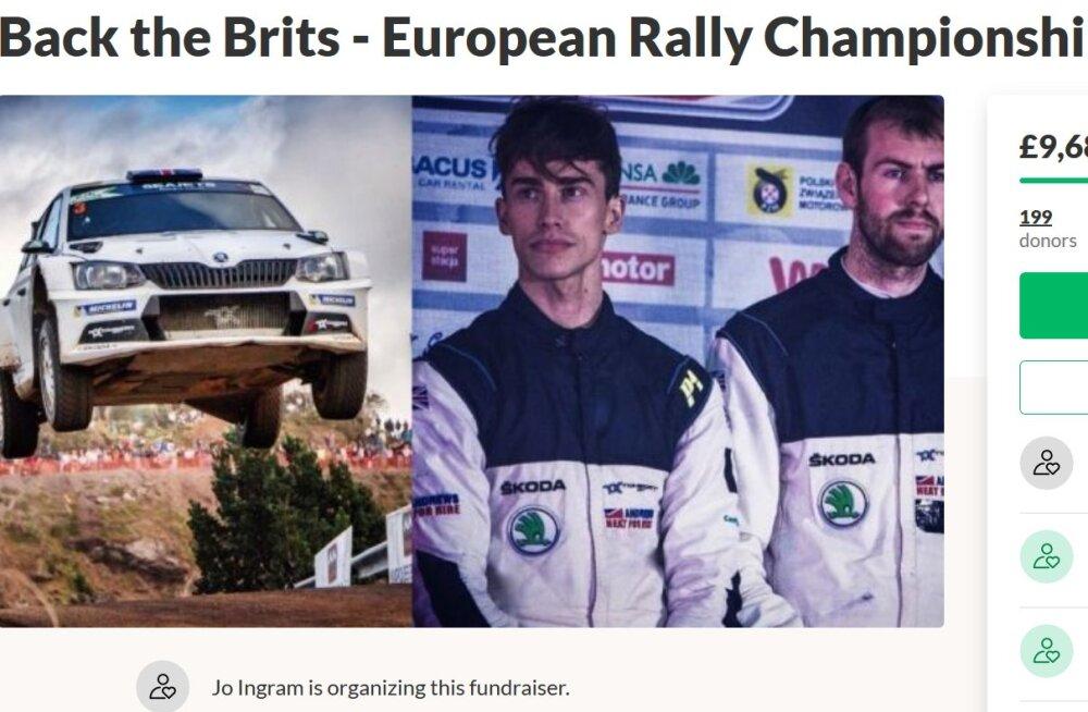 Rally Estonia poodiumil seisnud rallisõitja ema algatas korjanduse, et poeg saaks ERC sarja tiitli nimel heidelda