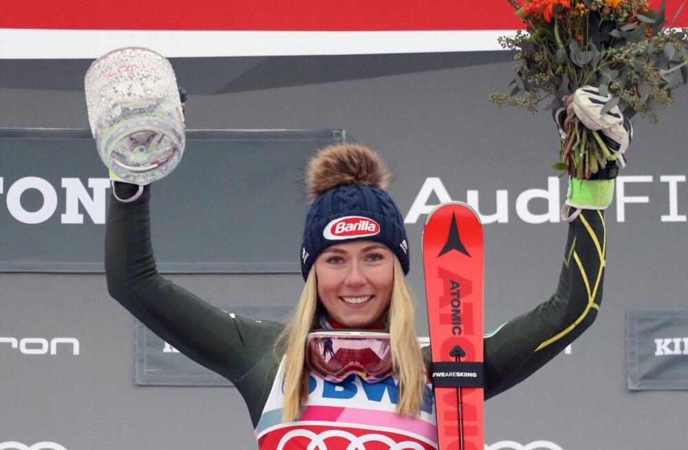 Mikaela Shiffrin tõusis MK-etapivõitude arvestuses kõigi aegade teiseks
