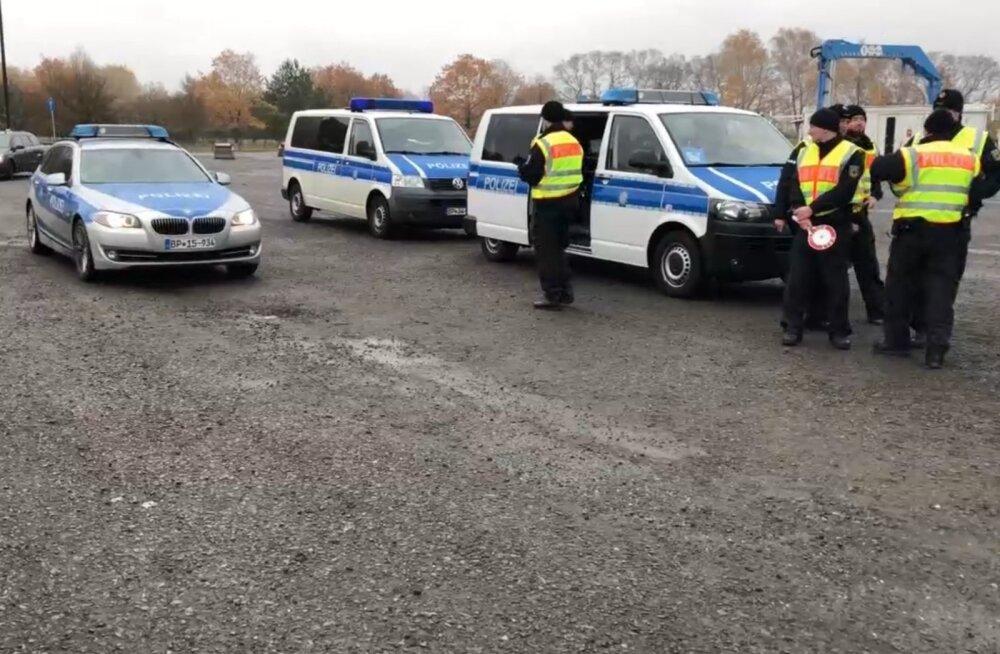 Saksa politsei tabas Poola piiril Eestis mõrva eest tagaotsitava mehe