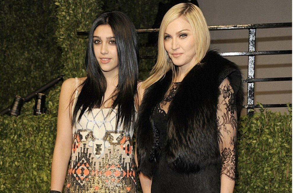 Madonna ja tütar Lourdes Leon