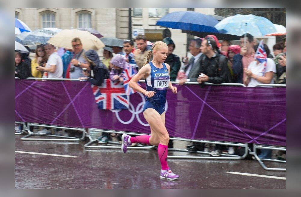 Evelin Talts Londoni olümpia maratonirajal