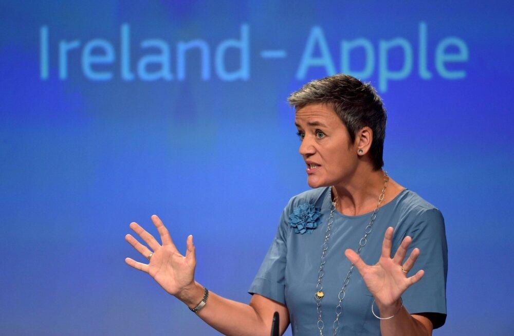 Euroopa konkurentsivolinik Margrethe Vestager leidis, et Apple on tänu Iirimaaga suletud uste taga sõlmitud maksusoodustusele vältinud 13 miljardi euro eest maksude tasumist.