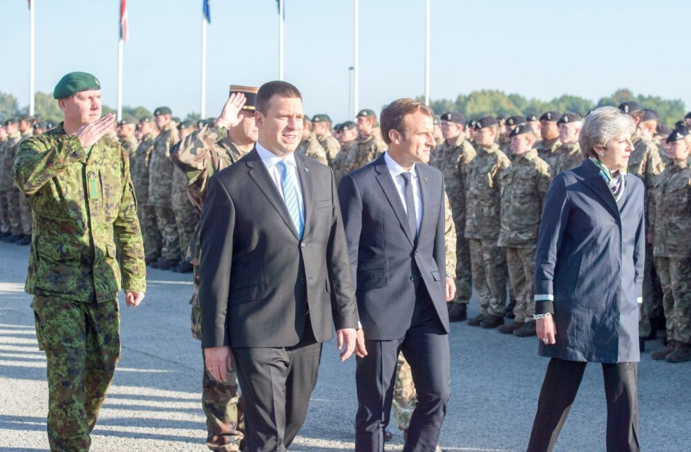 Jüri Ratas ja Emmanuel Macron - 2017. aastal Tapal