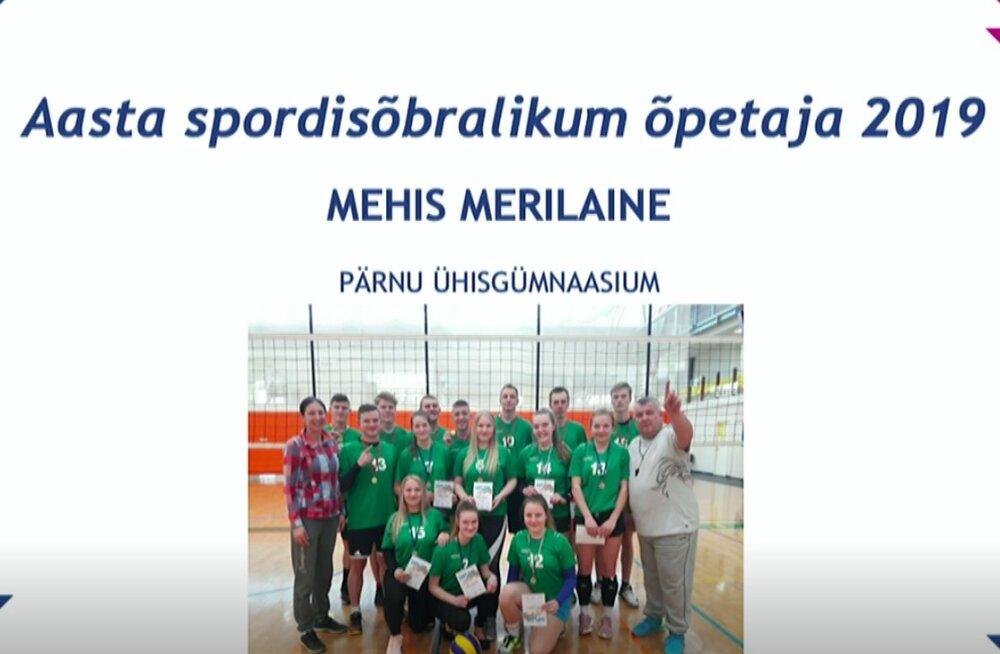 Aasta Spordisõbralikum Õpetaja 2019 on Mehis Merilaine