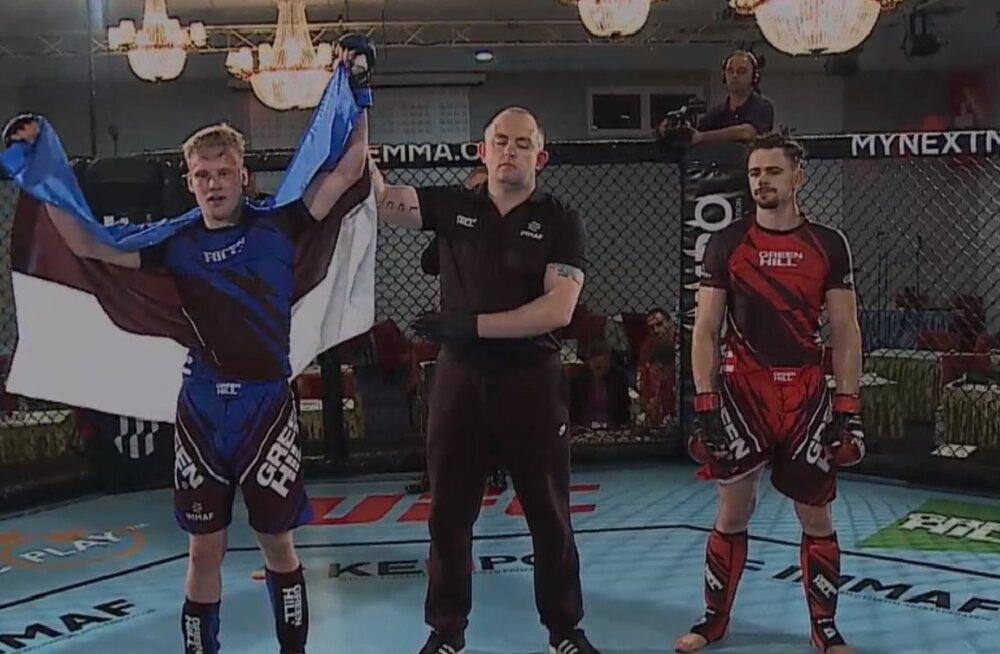 VÕIT! Eesti MMA-võitleja Kaupo Kokamägi EMi finaalis