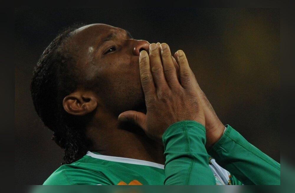 VIDEO: Drogba vedas Elevandiluuranniku poolfinaali