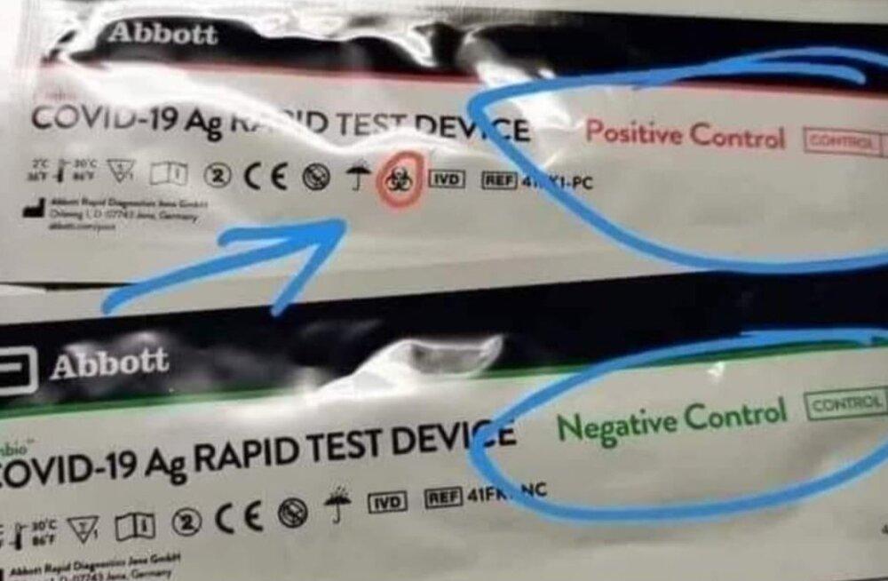 Очередная спекуляция из соцсетей: экспресс-тесты на коронавирус еще в пачке имеют заранее определенный результат?