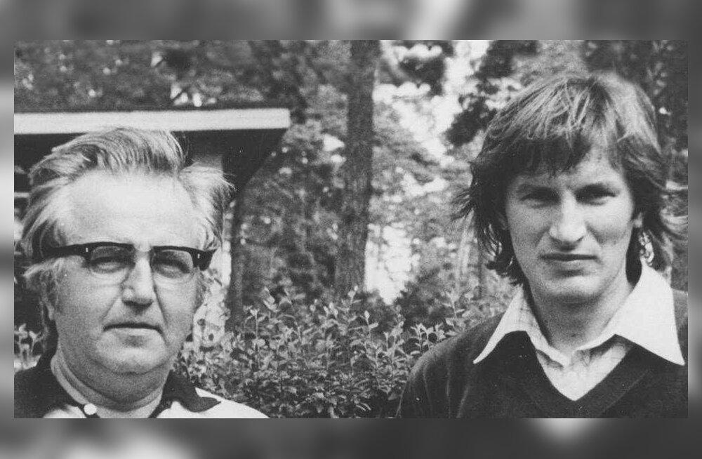 Isa ja poeg – Heino ja Tõnu Kaljuste.