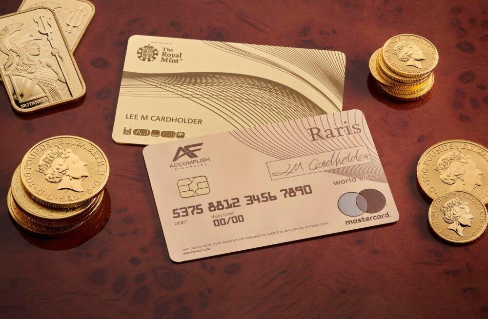 Royal Minti uus elitaarne 21 000 eurot maksev pangakaart.