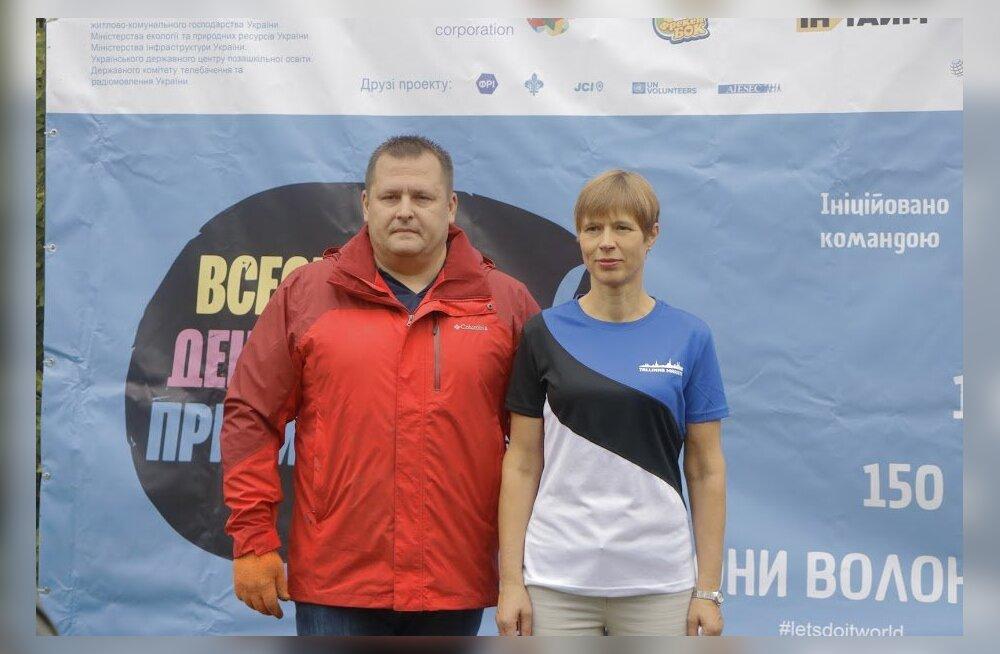 Президент Эстонии и мэр украинского Днепра присоединились ко всемирной акции чистоты