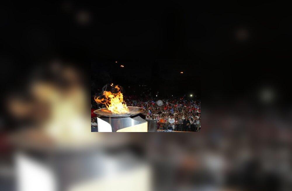 Olümpiatuli põleb