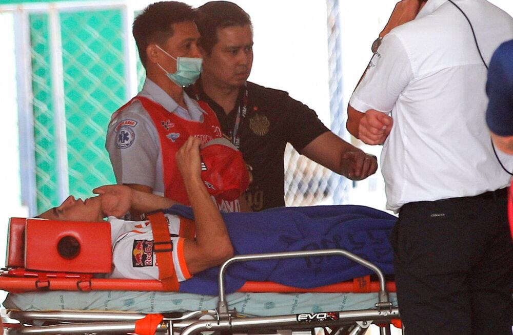Kuuendat MM-tiitlit jahtiv Marquez viidi vabatreeningult haiglasse