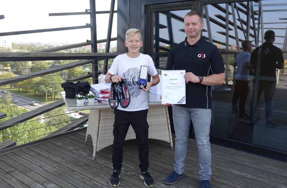 G4S Eesti вручил знак отличия и подарок 12-летнему мальчику, который спас жизнь ребенку
