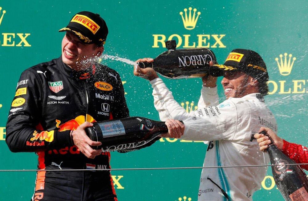 Vormel 1 sarjas annavad praegu tooni Max Verstappen (vasakul) ja Lewis Hamilton.
