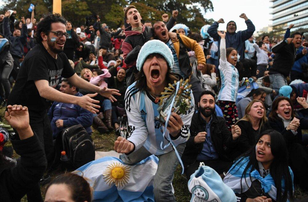 VIDEO | Vaata, kuidas reageeriti Marcos Rojo võiduväravale Argentinas ja Nigeerias!