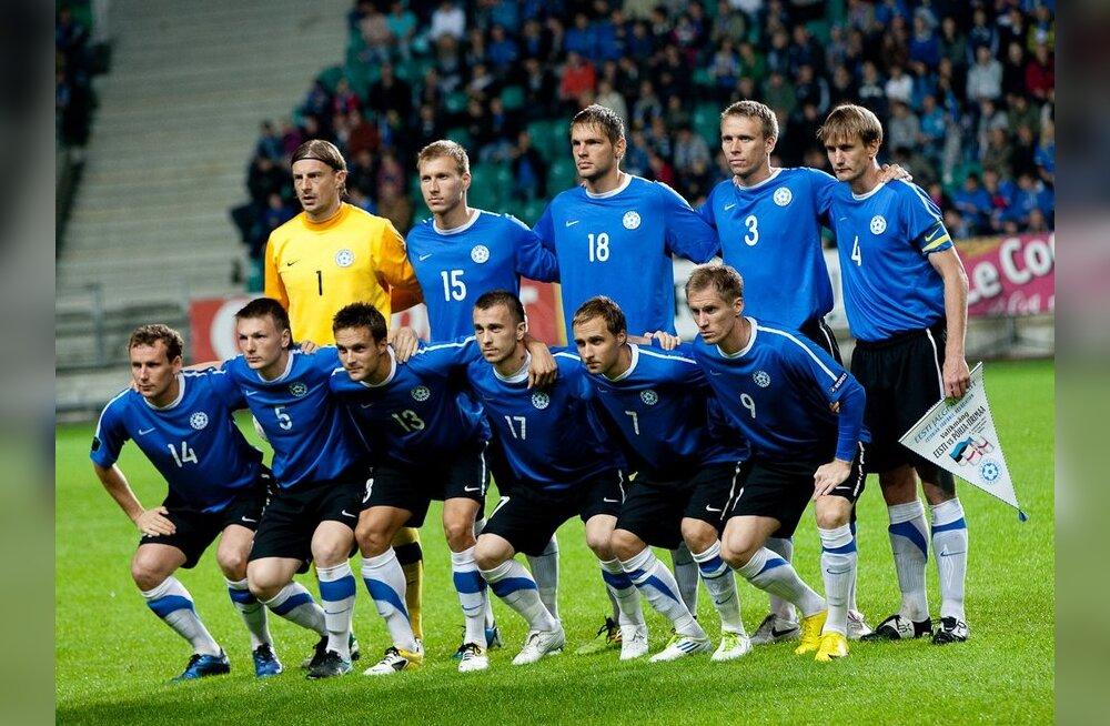 Eesti jalgpallikoondis läheb otsustavale EM-valikmängule pea parimas rivistuses