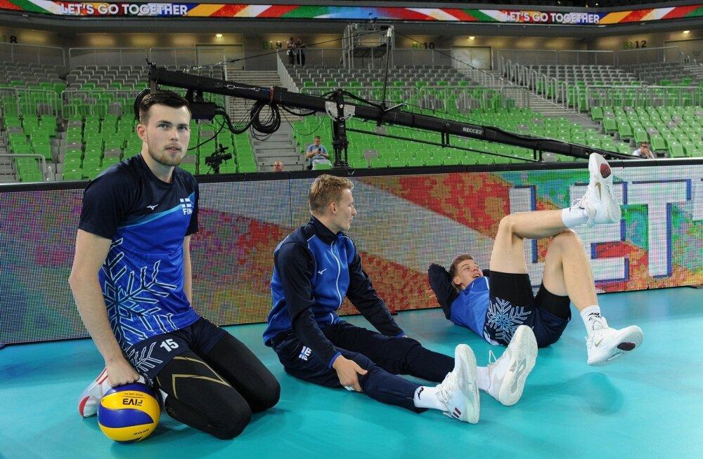 Henrik Porkka (vasakul) valmistub mänguks. Kahe aasta pärast toimuval kodusel EM-il tahab ta juba suuremat rolli.