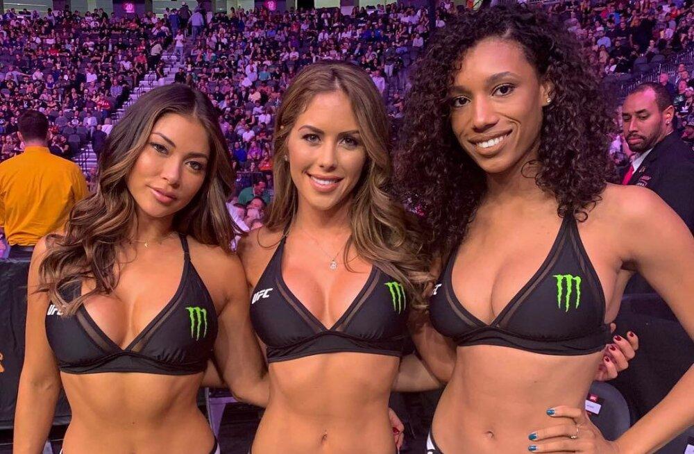 FOTOD | Mis sai McGregori ja Nurmagomedovi matši järel mäsu keskele jäänud kaunitest ringitüdrukutest?