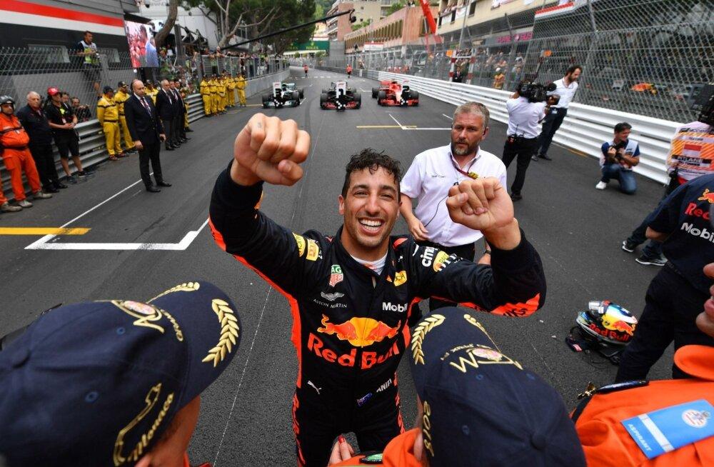 Daniel Ricciardo valitses Monaco kihutamist kindla käega.