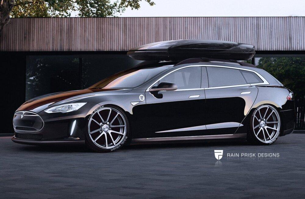 Universaalkerega Tesla Model S – eestlane disainis menukast elektriautost uue variandi
