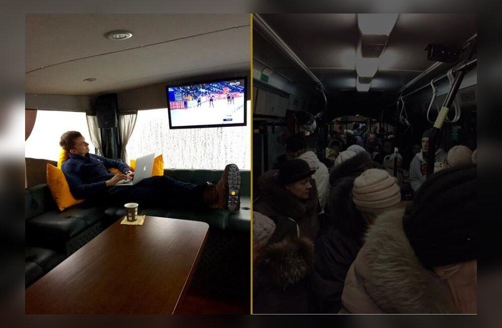 Reformierakonna kohvik-buss vs Lasnamäe linnaliinibuss