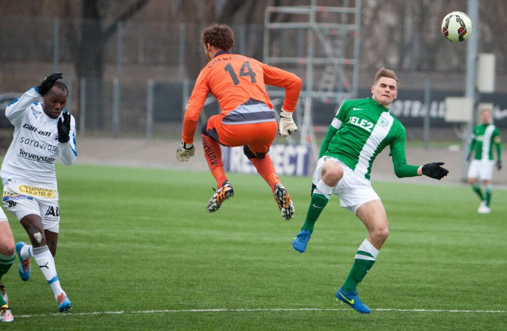 Viljandi väravavahiga Flora kaotas Soome klubile