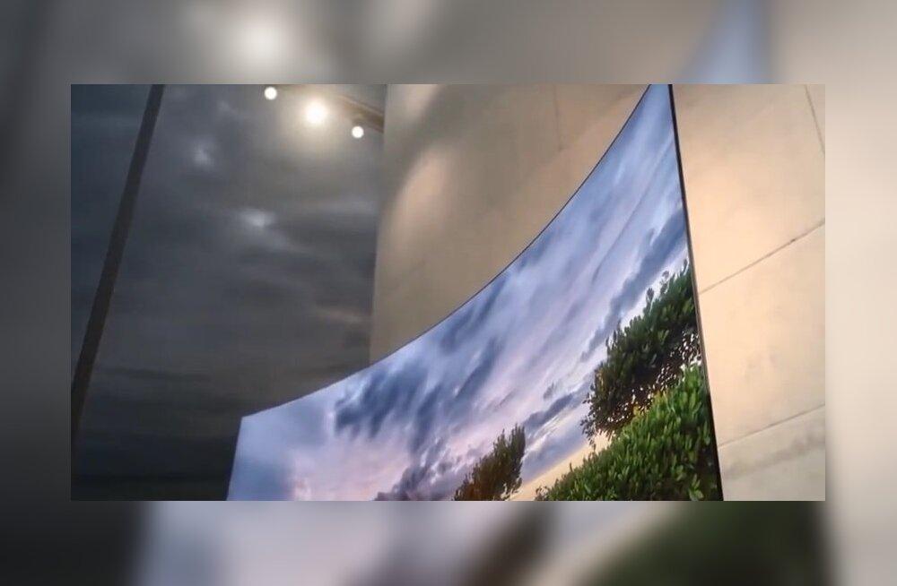 LG tegi nii õhukese teleka, et selle võib kleepsu kombel seinale kleepida