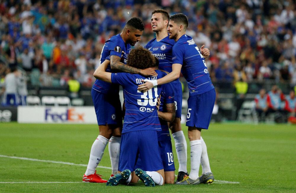 Chelsea tähistab väravat