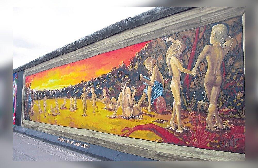Художники протестуют против разрушения Берлинской стены