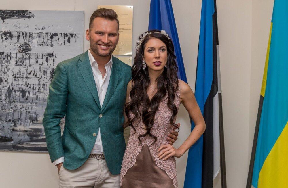 Eurovisioni delegatsioon Kiievi Eesti saatkonnas vastuvõtul