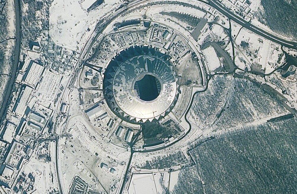 ФОТО: Завораживающее зрелище. Как выглядят стадионы ЧМ–2018 из космоса