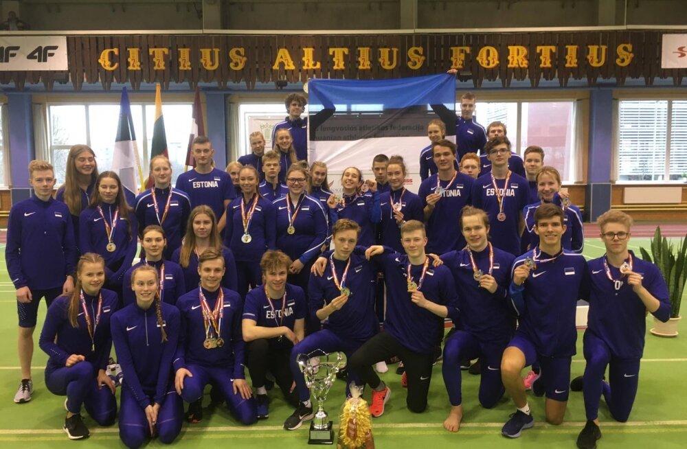Eesti kergejõustiku U18 koondis võitis Balti maavõistluse, Millend kordas rekordit