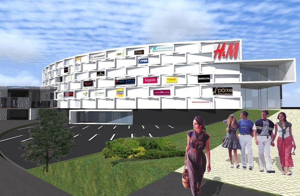 Строительство паркового торгового центра в Йыхви начнется в мае
