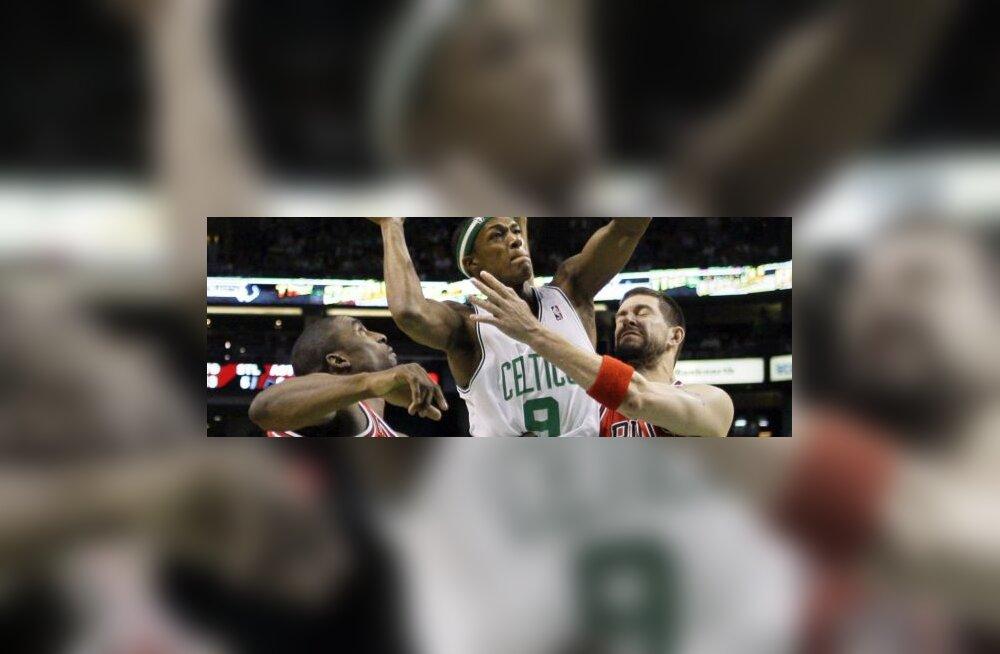 Boston Celticsi Rajon Rondo mängus Bullsiga